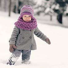 Detské doplnky - Sněhová královna - nákrčník Ametystový - 11114874_