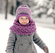 Detské čiapky - Sněhová královna - čepice Ametystová - 11114898_