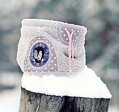 Detské doplnky - Sněží na veverku šedý - holčičí - 11116745_
