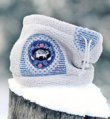 Detské doplnky - Sněží na mývala šedý - klulčičí - 11116778_