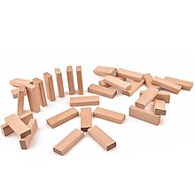Hračky - Drevená stavebnica - veľké dosky - 31 ks (+ vrecúško) - 11114888_
