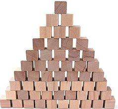 Hračky - Drevené kocky - sada 55 kusov (+ vrecúško) - 11115218_