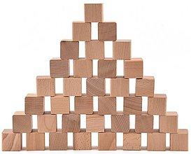 Hračky - Drevené kocky - sada 36 kusov (+ vrecúško) - 11115480_