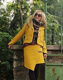 Kabáty - Kostým horčica - 11115418_