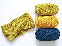 Čiapky - Turban čelenka - farby jesene (Žltá) - 11114555_