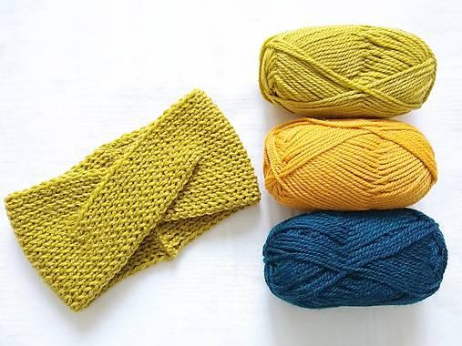 Turban čelenka - farby jesene (Žltá)
