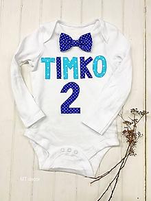 Detské oblečenie - BODY, BODIČKO na oslavu, personalizované TRIČKO - 11115334_