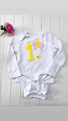 Detské oblečenie - BODY, BODIČKO na oslavu, personalizované TRIČKO - 11116316_