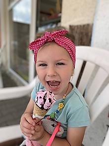 Detské doplnky - ČELENKA - hlavošatka, čelenka do vlasov,pre dopeláčky - 11116714_