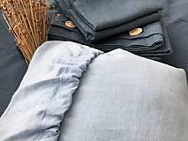 Úžitkový textil - Ľanová plachta s gumičkou (90x200 tmavomodrá - Modrá) - 11115759_