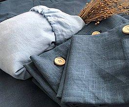 Úžitkový textil - Ľanová plachta s gumičkou (120x60 bledomodrá - Modrá) - 11115754_