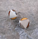 Náušnice - Zlato, striebro a med' - 11115957_
