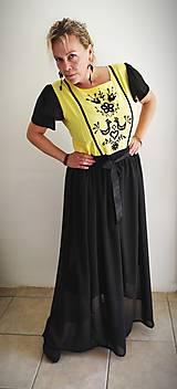 Šaty - Ručne vyšívané šaty na ples - 11115315_