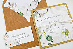 Papiernictvo - Svadobné oznámenie Olívia 2 - 11117659_