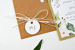 Papiernictvo - Svadobné oznámenie Olívia 2 - 11117662_