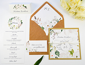 Papiernictvo - Svadobné oznámenie Olívia 2 - 11117655_