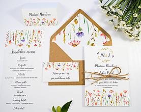 Papiernictvo - Svadobné oznámenie Naše lúky - 11118908_