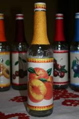Fľaše na pálenku  (broskyňa)