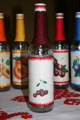 Nádoby - Fľaše na pálenku  (višne) - 11119078_