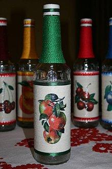 Nádoby - Fľaše na pálenku  (jablko) - 11119037_