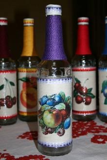 Nádoby - Fľaše na pálenku  (miešané ovocie) - 11119081_