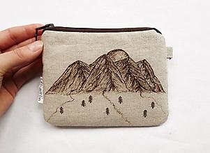 Peňaženky - Peňaženka malá ľanová - Hory (s priehradkami) - 11118296_