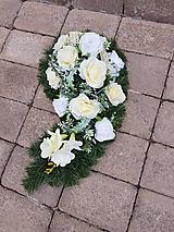 slza zakrivená na hrob krémovobiela 56  cm
