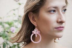 Ruženka - Ručne šité šujtášové náušnice - Soutache earrings