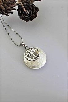Náhrdelníky - SUPERAKCIA! perleť prívesok strom života - 11117899_