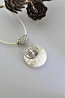 Náhrdelníky - perleť prívesok - strom života - 11118054_