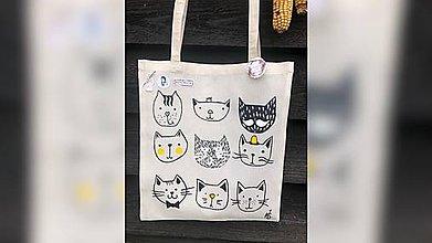 Iné tašky - ♥ Plátená, ručne maľovaná taška ♥ - 11118367_