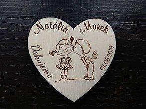 Darčeky pre svadobčanov - magnetka svadobná - 11118674_