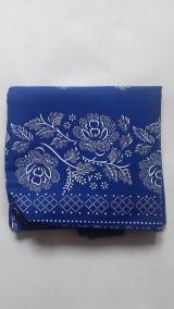 Nákupné tašky - Bavlnena taška s folklorným vzorom - 11118095_