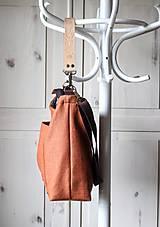 Veľké tašky - Veľká ľanová taška *brick* - 11118014_