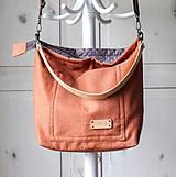 Veľké tašky - Veľká ľanová taška *brick* - 11118035_