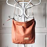 Veľké tašky - Veľká ľanová taška *brick* - 11118036_