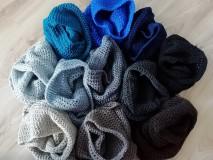 """Doplnky - NÁKRČNÍKY - """"5 odtieňov sivej+modrá je dobrá+prírodná"""" - 11117809_"""