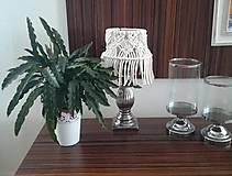 Svietidlá a sviečky - Malé macrame tienidlo - 11117893_