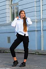 Mikiny - MONACO mikina s kapucňou biela - 11117344_