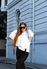 Mikiny - MONACO mikina s kapucňou biela - 11117347_