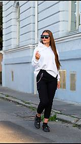 Mikiny - MONACO mikina s kapucňou biela - 11117348_