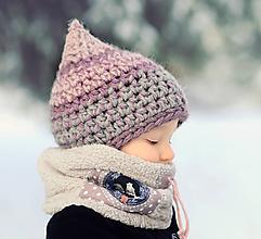 Detské čiapky - Skřítek ze zimního vřesoviště - 11117977_