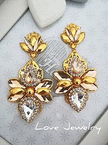 Náušnice - Náušnice zlato-béžové - 11118617_
