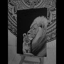Obrazy - Lev s levíčaťom - 11118395_