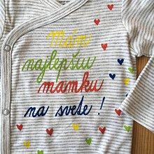 Detské oblečenie - Maľované body s pestrofarebným nápisom (Mám najlepšiu mamku na svete) - 11119350_