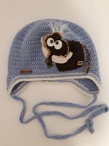Detské čiapky - Čiapočka s mamutíkom - 11119115_