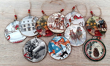 Dekorácie - vianočné rozprávkové gule / zĺava z 3,50 na 3e/ - 11118312_