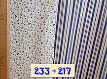 Úžitkový textil - Bavlnené romantické posteľné návliečky (Bielo-modré kombinované) - 11117240_