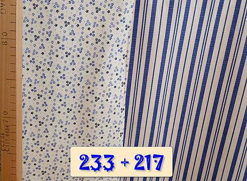 Bavlnené romantické posteľné návliečky (Bielo-modré kombinované)