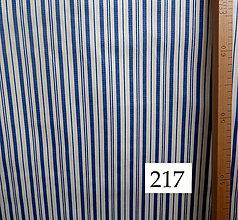 Úžitkový textil - Bavlnené romantické posteľné návliečky (Bielo-modré prúžky) - 11117237_
